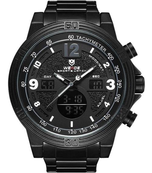Relógio Masculino Weide Anadigi Preto 11805