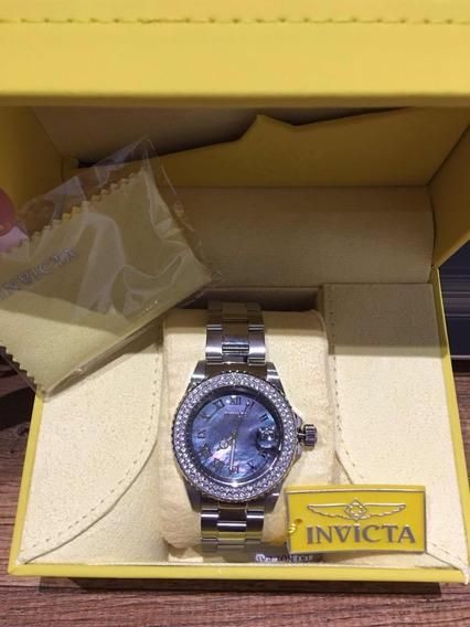 Relógio Invicta Angel Em Madrepérola Púrpura Original