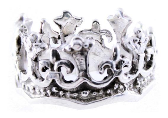 Anillo De Corona De Rey De Plata .925 Anillo Para Caballero