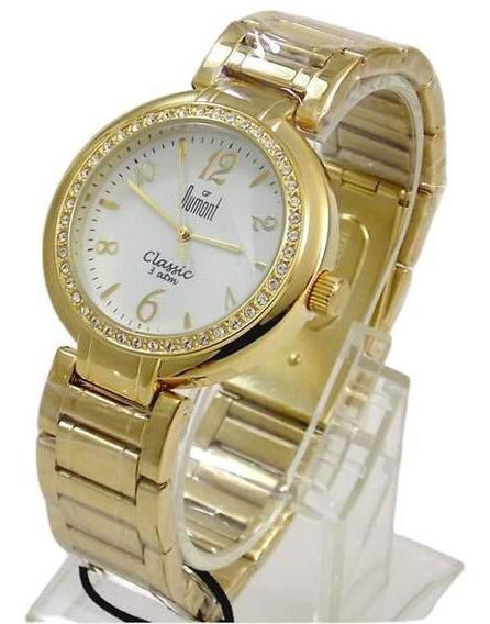 Relógio Feminino Dourado Cristais Swarovsk Sw85026b