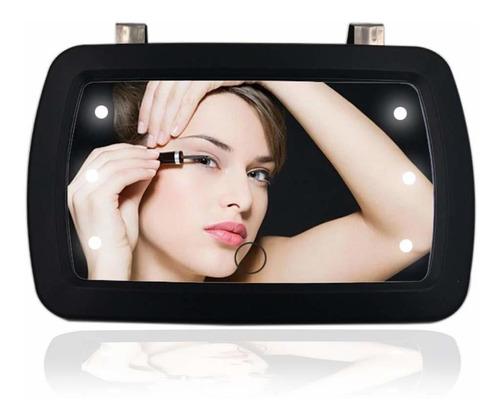 Imagen 1 de 6 de Qixi Espejo De Visera Para Automovil Con Luces Led Maquilla