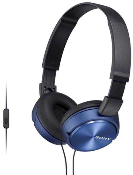 Fone De Ouvido Supra Auricular Com Microfone Sony Zx310 Azul