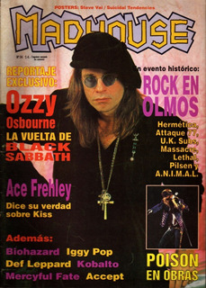 Madhouse No. 34 En Portada Ozzy Osbourne - Poster Steve Vai