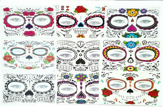 Set 100 Tatuajes Catrina Halloween Hombre Mujer Envio Gratis