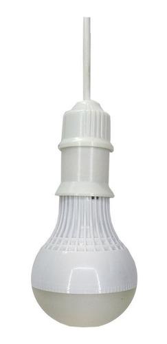 Imagen 1 de 3 de Foco Led 9w Encendido Automatico Sensor Luz Y Sonido Al9