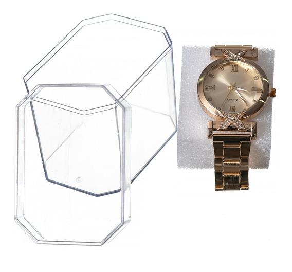 Kit Top Barato 10 Unidade Relógio Feminino + Caixa Revenda