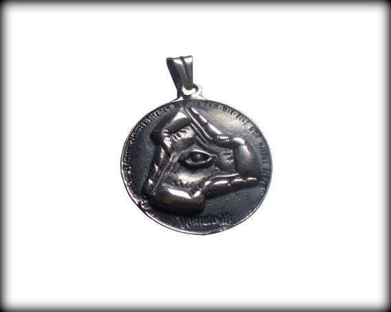 Pingente Maçônico Illuminati Y23 S - Pura Prata 950 - 30 Gr.