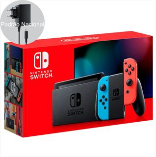 Nintendo Switch Neon Bateria Estendida Padrão Brasil Novo