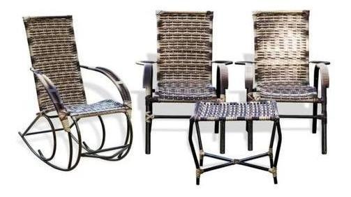 Cadeiras De Área + Balanço Kit Promoção Conjunto Mesa