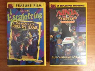 Películas Tortugas Ninja Y Escalofríos Vhs