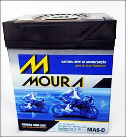 Bateria Fazer Tenere 250 Moura Moto Ma6-d Gel Yamaha