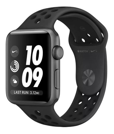 Relógio Apple Watch Nike+ Serie 3 42mm - Cor: Cinza