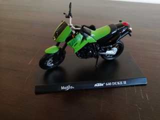 Miniatura Motocicleta Maisto Ktm 640 Duke Ii Verde 1:18