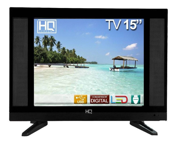 Tv Led 15 Polegadas Hq Conversor Digital Hqtv15 Hdmi Usb