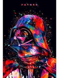 Placa - Decorativa - Grande - Star Wars - Filme - (gv117)