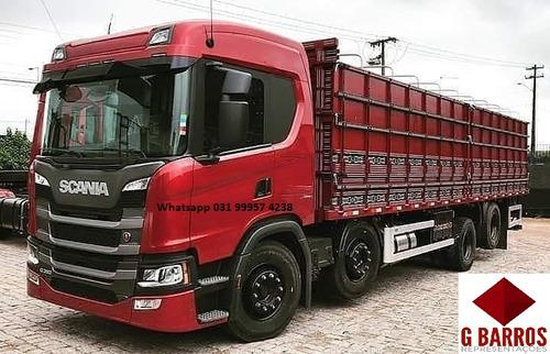 Nova Scania P320 8x2 Aut  Carroceria Graneleiro 2021