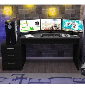 Mesa Para Computador Desk Gamer Drx 6000 Siena Móveis Cdwt