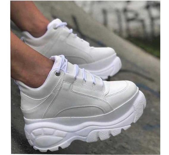 Tênis Sneaker Buffalo Feminino Plataforma Conforto Branco