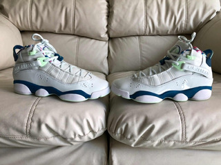 Tenis Air Jordan Six Rings Mint Del 25mx Dama O Niño