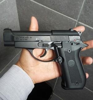 Pistola De Fogueo Bruni 84 No Letal De Uso Civil-defensa
