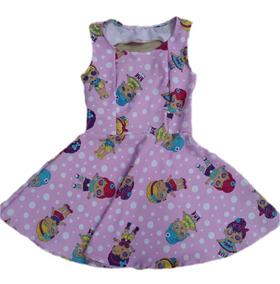 Vestido Infantil Menina Tamanho P M G Kit Com 02 Vestido