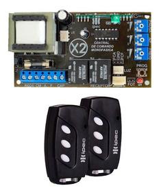 Placa Central Comando X2 Universal 2 Controles Ipec Portão