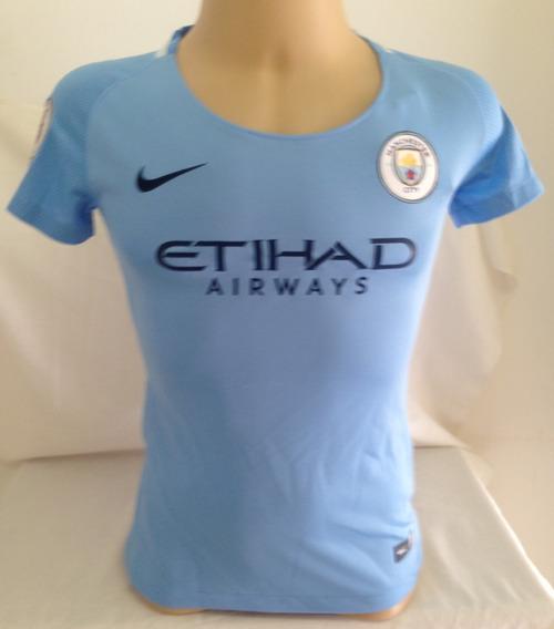 Camisa Manchester City Feminina #10 Kun Agüero - Tamanho M