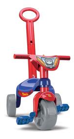 Triciclo Empurrador Motoca Infantil Carrinho Passeio Menino