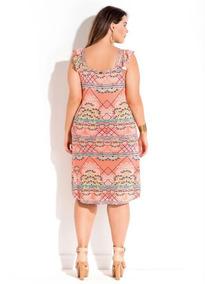 Vestido Moda Evangelica Estampado Plus Size Pronta Entrega