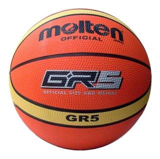 Pelota De Basquet Molten® Gr5 Vulcanizada Basket Ball Nº5
