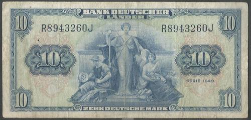 Alemania Federal 10 Mark 22 Ago 1949 P16a