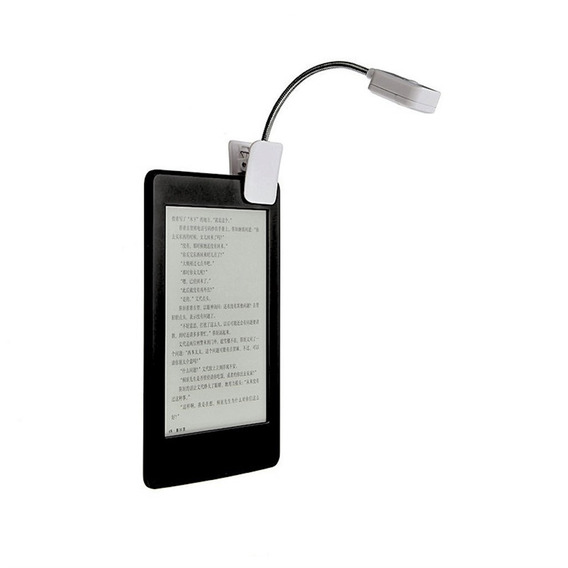 Luz Led Clip Para Kindle/kobo/lev -baterias Inclusas -branco
