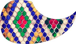 Escudo Palheteira Resinada Violão Aço Gipsy Tiles