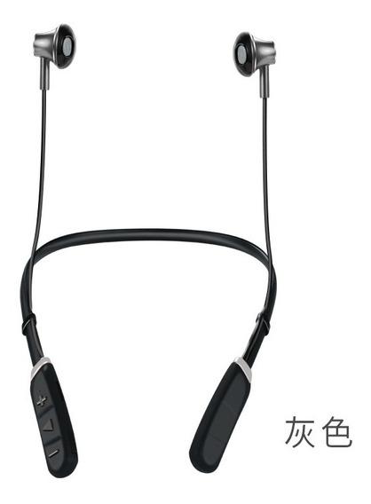 Cinza M04 Montado No Pescoço Esportes Bluetooth Headset Tf C
