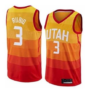 Camiseta N. B. A. Utah Jazz #3 Rubio (city) Talle X X L