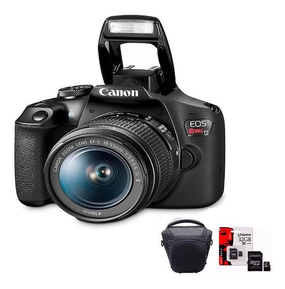 Camara Canon T7 Reflex Kit Ef+ Lente+ Bolso+ 32gb Original