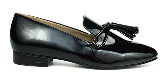 Trender Flats Para Mujer Tipo Charol Con Borla