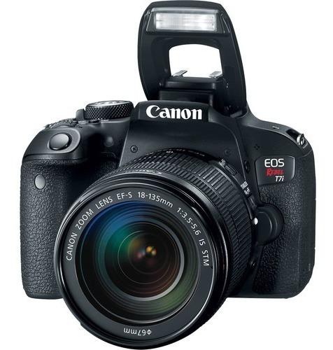 Câmera Canon T7i Ef-s + 18-135mm F/3.5-5.6 Is Stm - Com Nf *