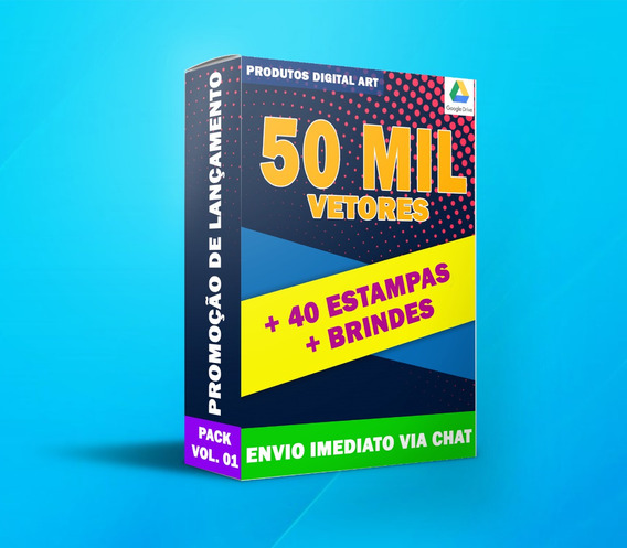 50 Mil Vetores + 40 Estampas + Brindes