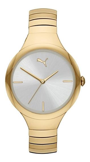 Reloj Dama Puma Contour P1027 Color Dorado De Acero