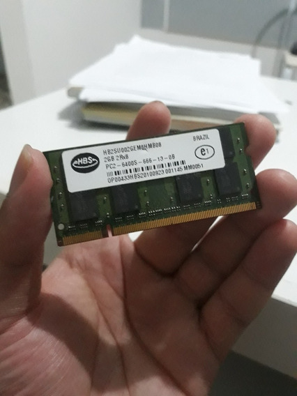 Memória Ram Notebook Ddr2 Sodimm 2 Gb 800mhz