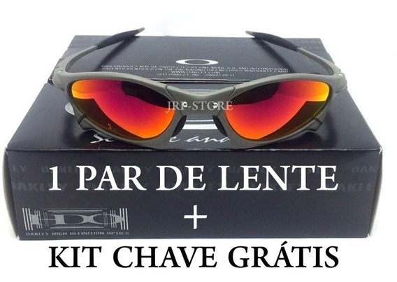 Oculos Oakley Juliet Penny Xmetal Fire Red+ Kit Chave+ Lente