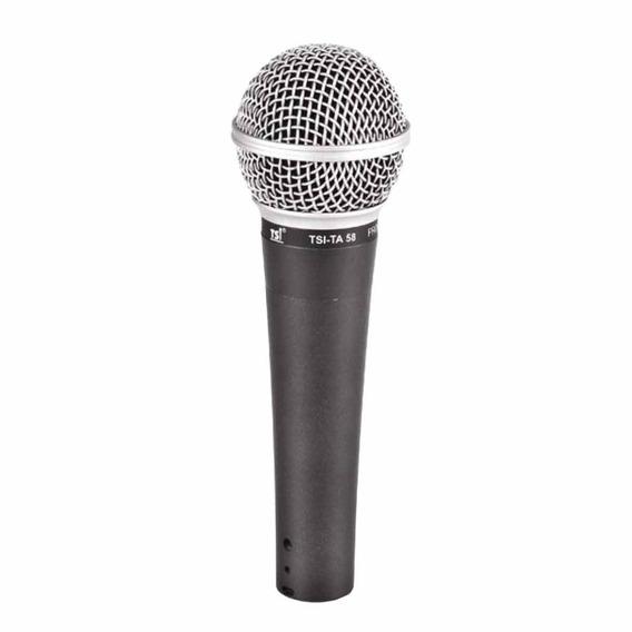 Microfone C/ Fio De Mão Dinâmico - Ta 58 Tsi