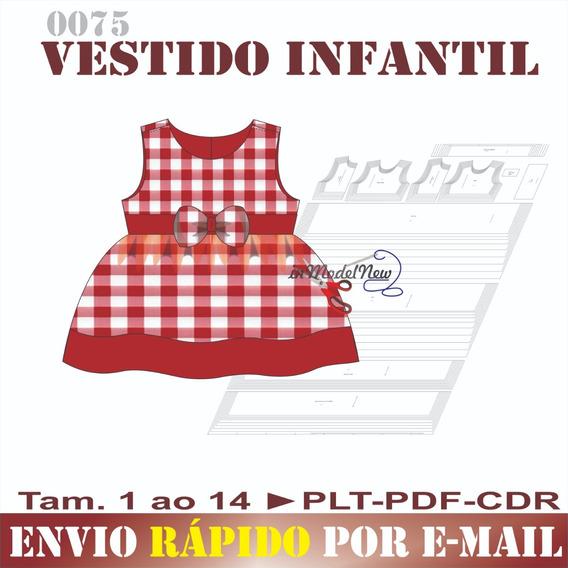 Molde Digital De Vestido Infantil De Fácil Montagem
