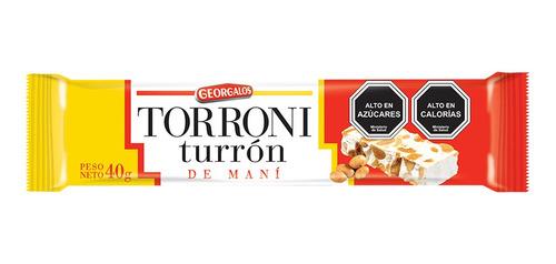 Imagen 1 de 1 de Turrón De Maní Torroni 28x40 Gr / Superstore