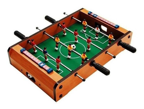 Mesa de pebolim DM Toys DMT5081 com bolas incluídas