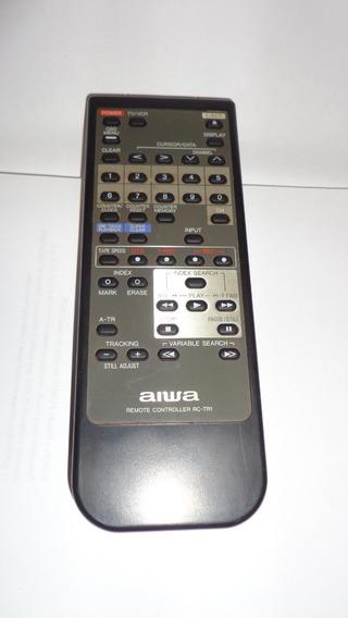 Controle Remoto Tv E Video K7 Aiwa Rc-tr1 -original