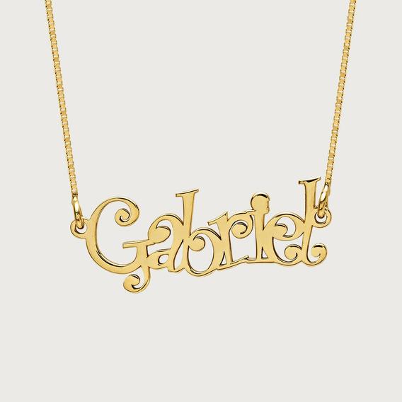 Gargantilha Personalizada Com Nome Em Ouro 18k