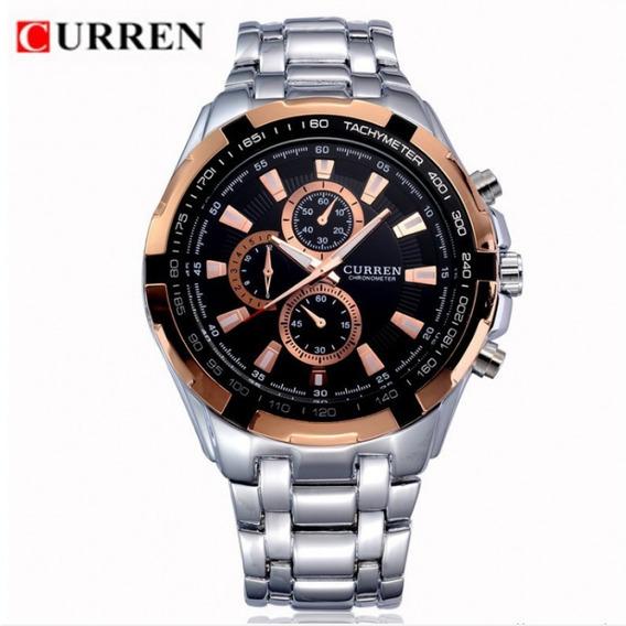 Relógio Masculino Quartz Aço Inox Marca Curren - Lindo!!!