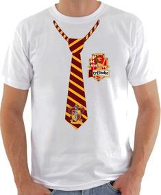 Camisa Camiseta Harry Potter Gravata Grifinória Griffindor